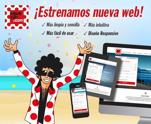 NUEVA WEB DE PEPECAR.COM, alquiler de coches baratos y sin renunciar a la calidad.